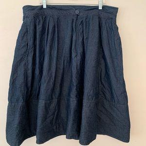 EShakti Chambray button front skirt